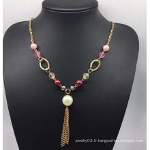 Perles colorées perle collier de chandail (xjw13760)