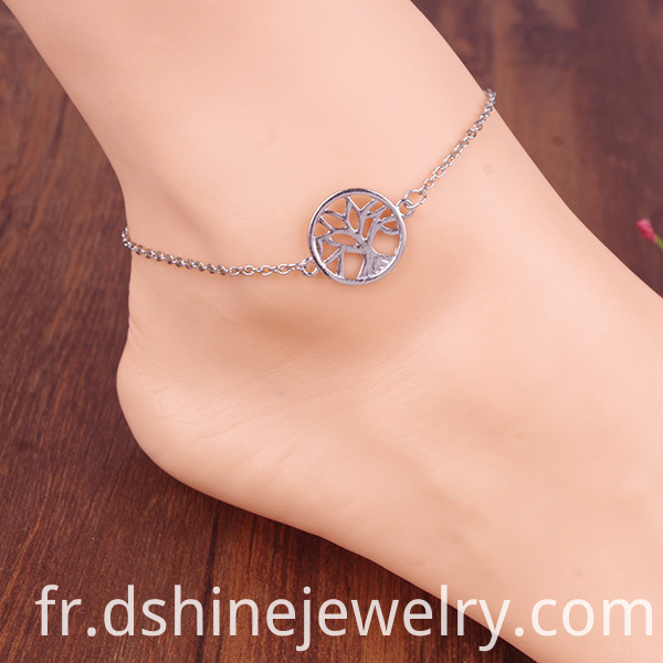 Round Trees Decorated Anklet