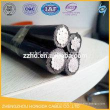 cable aéreo con cable de avión abc torcido cable de mensajería