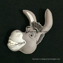 Пользовательские симпатичный мультфильм Недди голову, Магнит холодильника для Выдвиженческих подарков