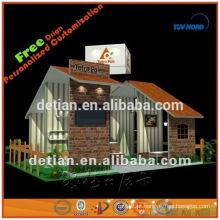 Cabine de exposição 6x6 portátil exibição cabine de exibição estande comércio stand stand portátil