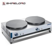Industrieller Edelstahl-Gegenoberseiten-elektrische Gaskrepp-Hersteller-Maschine und heiße Platte