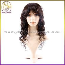 Дешевые Продажа отрасли человеческой природы индонезийской темно синий парик волос
