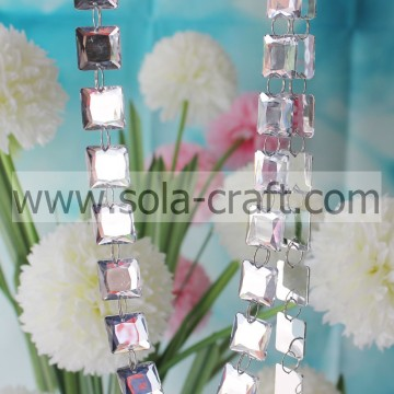 Newest Design Rose Color Cube Bead Chain Chandelier Garland