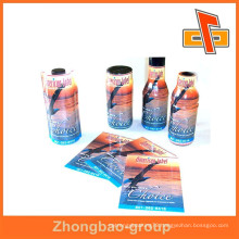 To quality plastic PET heat shrink custom printed sleeves for bottles from zhongbao company