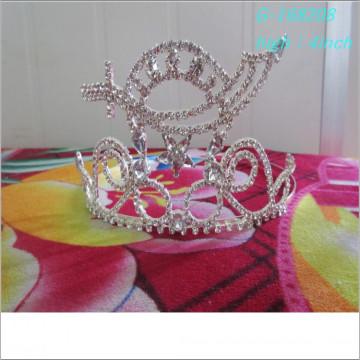 Оптовый модный пользовательский конкурс тиары король корона праздник