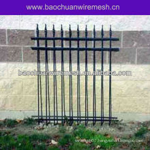 Wrought iron yard fencing