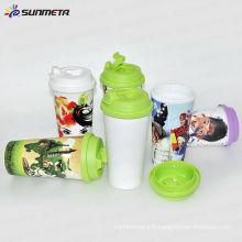 Tasse en tasse en plastique à double paroi Sunmeta --- fabricant