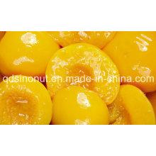 Консервированные желтые персики с половинками, ломтиками, кубиками в легком сиропе или сиропе (HACCP, ISO, HALAL, KOSHER)