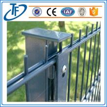 Double clôture métallique