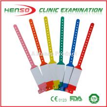 Pulseiras descartáveis de identificação de plástico HENSO