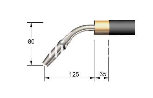 24KD Automatic 45 Bent MIG Welding Torch