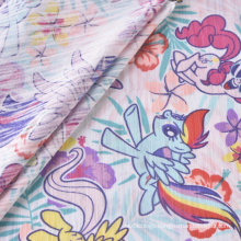 Printed Single Jersey Fabric CVC Cotton Polyester Fabric