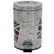 Модная печатная конструкция из нержавеющей стали Педаль для мусора