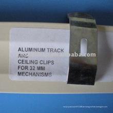 Aluminium Vorhangschiene und Deckenclips für 32mm Mechanik Kopfschiene, Vorhangzubehör, Rollohalterung