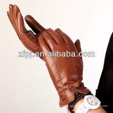 Encantadores guantes de cuero súper marrón para señora en XXL