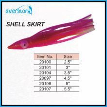 Octopus Fishing Lure - Shell Shirt in verschiedenen Größen