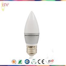 Ampoule d'usine de bougie d'argent de C37 LED pour de nouveaux produits de LED