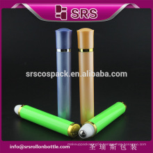 SRS free sample 10ml cosmetic plastic vibrating empty roll on bottle