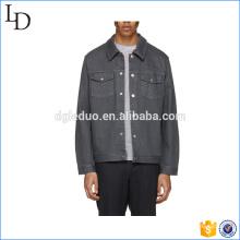 Männer Denim Jacke lange Ärmel Button-Up-Jacke Kleid für Männer