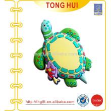3D PVC Schildkröte Schlüsselanhänger für kundenspezifische Designs