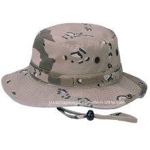 Algodão Militar Azul Camo Atacado Bucket Chapéus