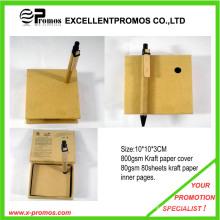 Elegante reciclar bloco de notas pegajoso com caneta (ep-m5262)