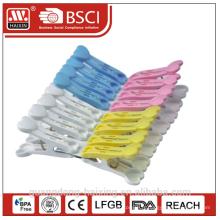 vente chaude en plastique ménage vêtements colorés Clip/vêtements chevilles (16 pièces)