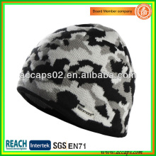 Camo knitted hat man's winter hat BN-2645