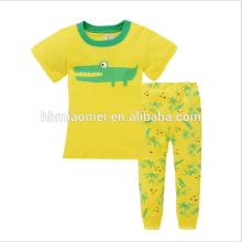 Vêtements de coton doux vêtements de nuit chauds style mignon imprimé enfants pyjamas