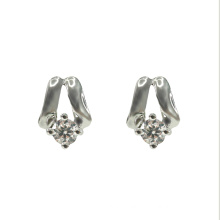 Classic Silver Stud Earring with Cubic Zirconia