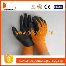 Orange Nylon mit schwarzem Nitril-Handschuh-Dnn340