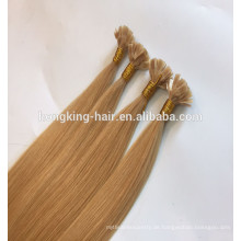 Qingdao Remy Haarverlängerung Einzelne gezogene flache Spitze Haarverlängerung Hohe Quaility Perücke