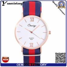 L'homme de montre de courroie de Nylon de vente chaude de quartz d'Yxl-475, montre de courroie en nylon La montre de dames de montre de femmes de Vogue d'hommes