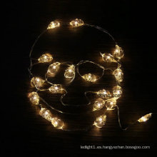Luces de cadena LED de alambre de cobre de hadas con pilas de botón para decoración de bodas al por mayor