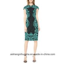 Женщин Кружева Коротким Рукавом Вечернее Платье Выпускного Вечера