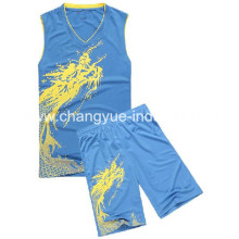 designed polyester material for basketball jersey with cool and dry fit