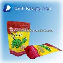 A alimentação animal colorida ziplock levanta-se sacos de empacotamento do empacotamento de alimento do saco / tartaruga