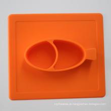 Placa de jantar Eco-Friendly do silicone do bebê do produto comestível
