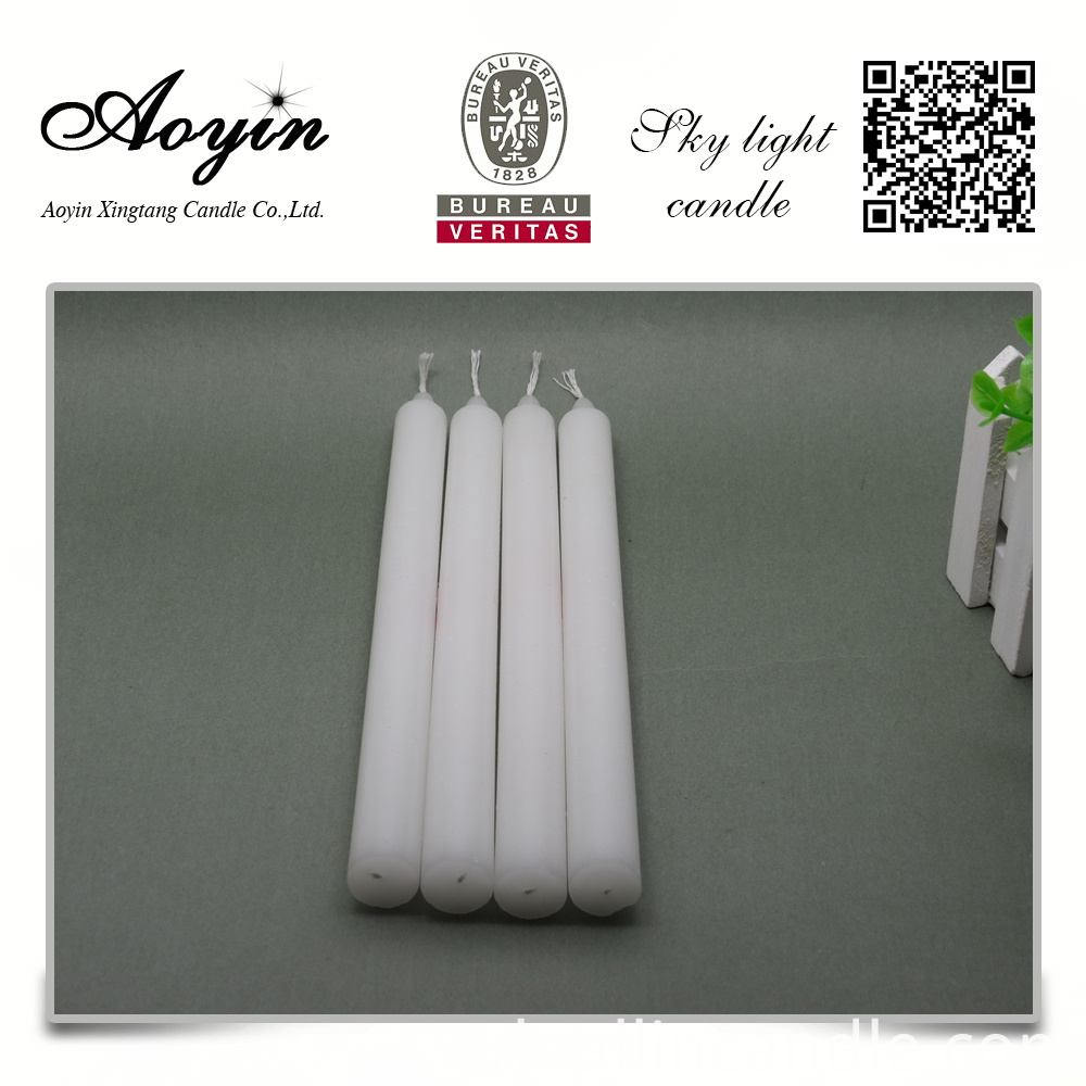 stick white candle
