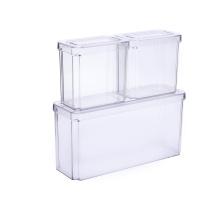 Recipientes transparentes para alimentos à prova de vazamento com tampa
