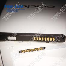Con muelle cargado Pogo pin conector para la batería del teléfono con carga rápida