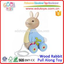 New Design Wooden Rabbit Pull Along Toy Best Selling Toys for Children