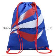 Azul personalizado impreso promocional impermeable viaje nylon cadena mochila