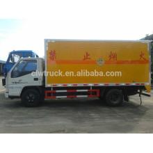JMC 4X2 camión de fuegos artificiales para la venta, camión explosivo