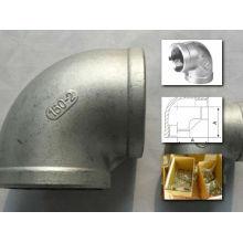Cotovelo roscado de aço inoxidável 304/316