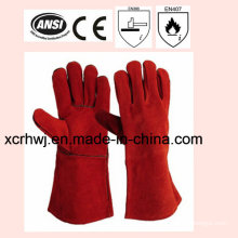 35cm Length High Quality Cow Split Leather Welding Gloves Price, Welding Safety Gloves, Long Leather Working Gloves, Lined Welding Gloves Supplier