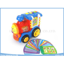 Toys Train Insert Card Learning Machine Toys with Study, Test, Music, Repeat Function