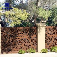 Delicate Design Laser Cut Design Metal Fence Garden Fencing