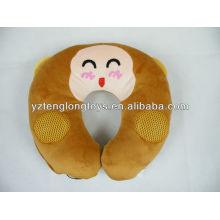 Suave relajante y encantador mono en forma de u almohada de habla